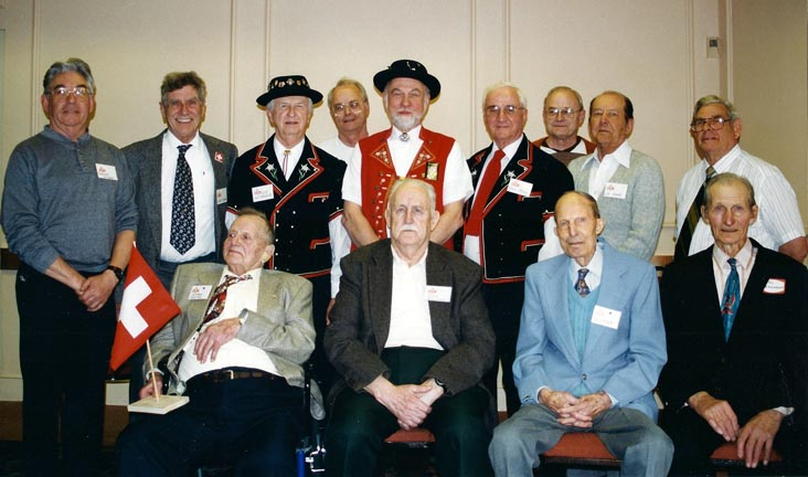 Group Picture of the Men at the 85-Year Anniversary in 1998