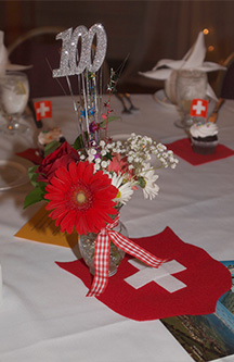 Festive Table at 100-Year Anniversary Celebration